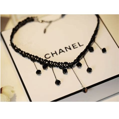 Kalung Necklace Wanita Black Ka16494 woven lace fringed drop necklace kalung rajutan wanita black jakartanotebook