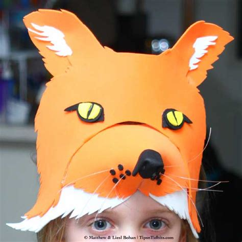 How To Make A Fox Mask Out Of Paper - kelly s foam fox mask 171 tips n tidbits