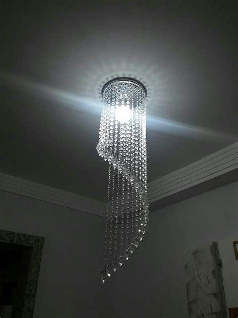 lustres but lustre cristal alto brilho em espiral lustres df elo7