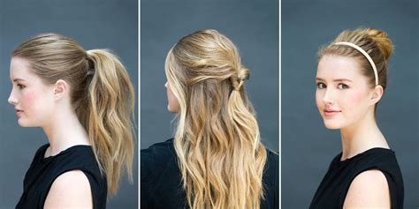 10 easy updos you can actually do with 2 hands hello glow 10 easy hairstyles you can do in 10 seconds diy hairstyles