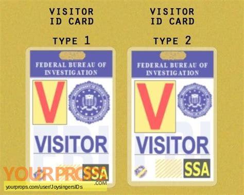 prop id card template bones fbi visitor pass replica tv series prop