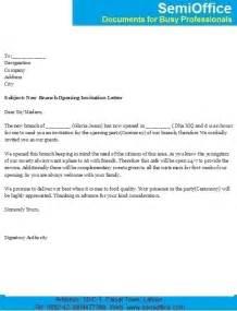 sample invitation letter for new business opening