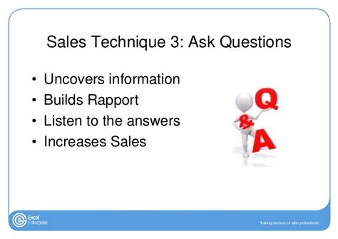 sales techniques sales techniques 7 steps to a successful sales call