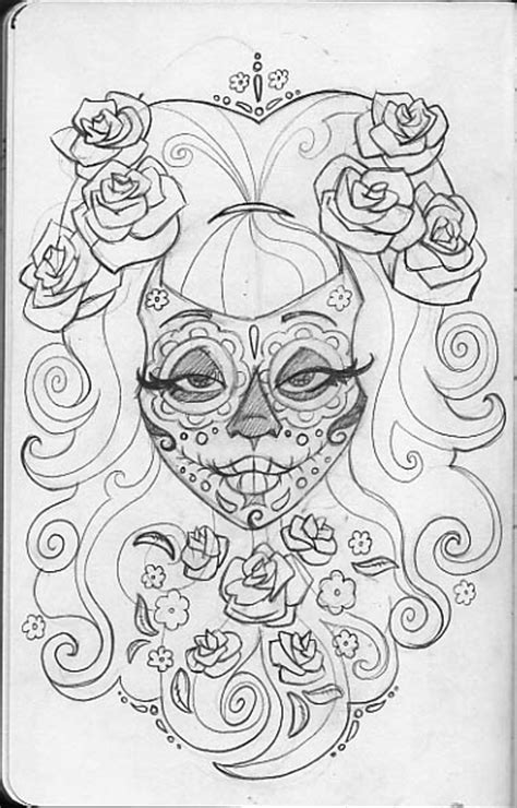 sugar skull coloring page free free coloring pages of sugar skull