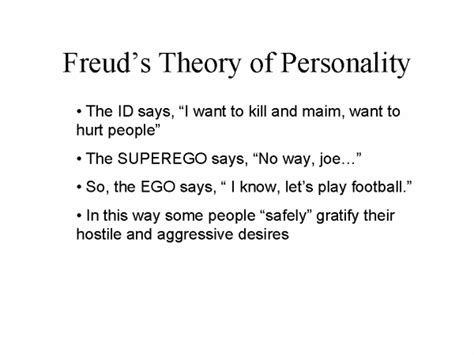 personality theories freudian theory