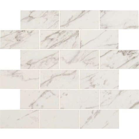 ms international carrara 12 in x 12 in x 10 mm polished porcelain mesh mounted mosaic tile 8