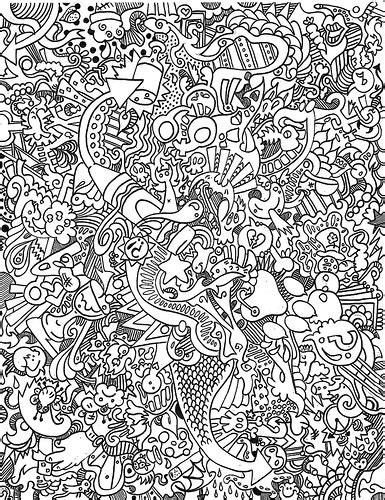 free coloring pages of trippy full page