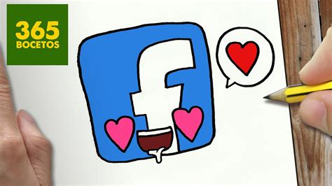 imagenes kawaii facebook como dibujar facebook enamorado kawaii paso a paso