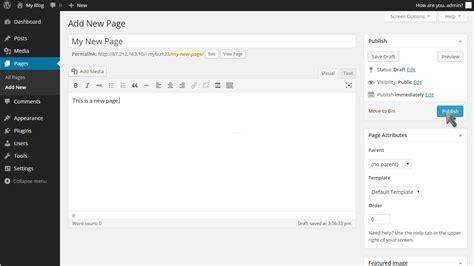 wordpress tutorial list how to manage pages in wordpress fastwebhost wordpress