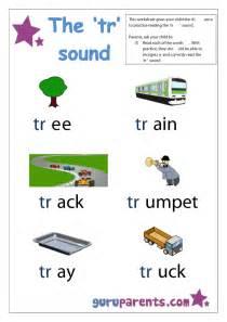 Word beginning sounds worksheet tr sound
