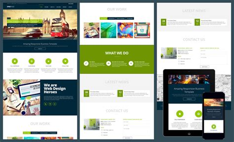 15 Free Amazing Responsive Business Website Templates Free One Page Responsive Html Resume Template