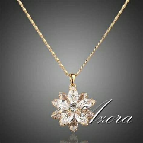 cadena de oro 14k para mujer precio flor de cristal swarovski collar con cadena de oro 18k