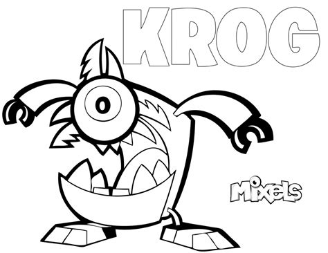 mixels coloring page krog eric s activity pages