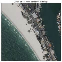 aerial photography map of treasure island fl florida
