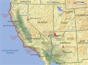 Map Of West Usa by Map Usa West