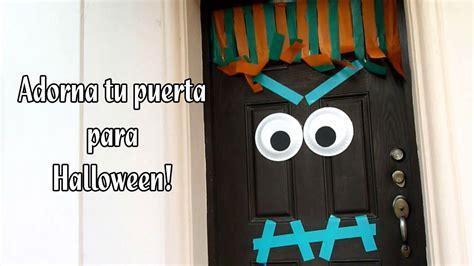 como decorar salon halloween como adornar tu puerta para halloween youtube