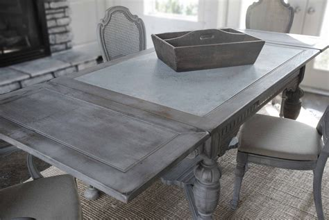 dining table galvanized metal top dining table