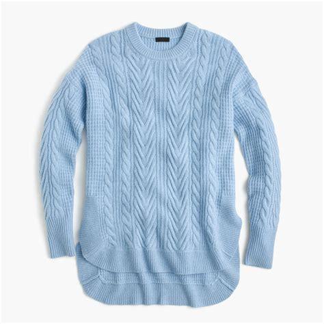 j crew cable knit sweater tunic cable knit sweater s sweaters j crew