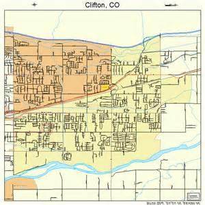 clifton map clifton colorado map 0815165