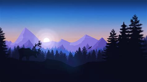 minimalist mountains mountains forest animals firewatch minimalism wallpapers hd desktop and mobile backgrounds
