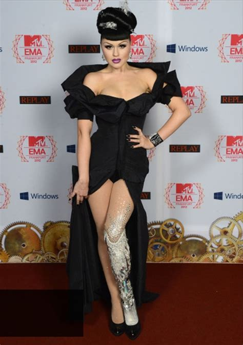 Wears Really Cool by Model With Prosthetic Leg Viktoria Modesta At Mtv Ema