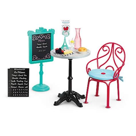 american doll chair that attaches to table american le graces bistro set for 18 quot dolls table