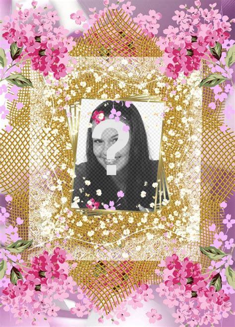 efectos para decorar fotos online marco con muchas flores para decorar tus fotos online