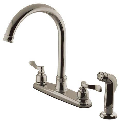 custom kitchen faucets kingston brass porcelain 2 handle standard