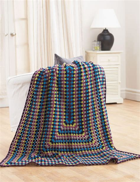 crochet pattern quick afghan quick and easy jeweled afghan allfreecrochet com