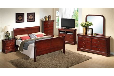 bedroom sets dawson cherry queen size bedroom set newlotsfurniture