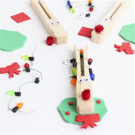 reindeer clothespins craft kit makes 3 kids craft kits