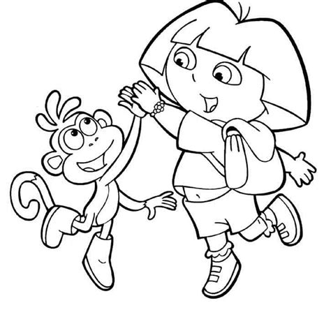 coloring pages dora boots dora boots coloring pages az coloring pages