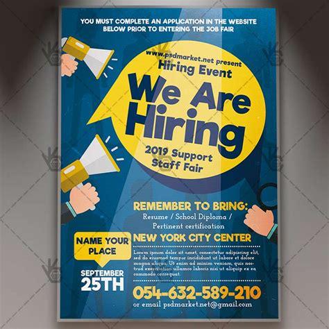 hiring template hiring flyer psd template psdmarket
