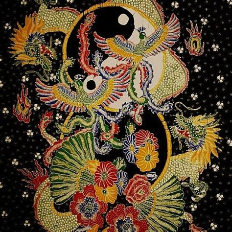Kain Batik Lawasan 3 batik lasem yinyang hong bird indonesia batik indonesia dragons