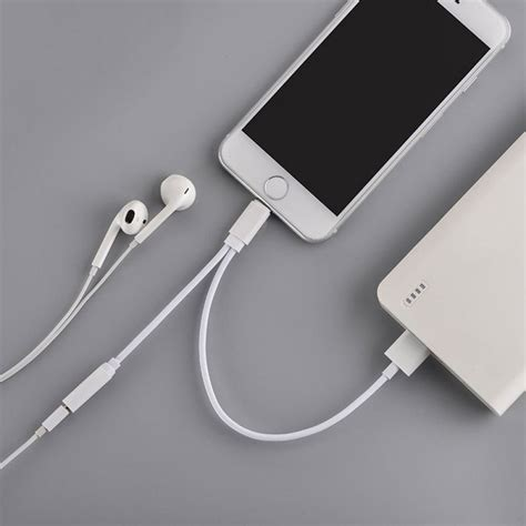 2 in 1 lightning 8 pin adapter to 3 5mm aux headphone with usb charging port for iphone 7 7
