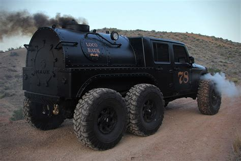 hauk designs steam jeep steam powered jeep jk 6x6 loco hauk hiconsumption