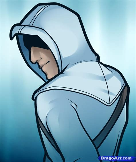 how to draw a easy how to draw altair easy assassins creed step by step characters pop