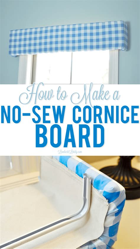 how to make a cornice how to make a no sew cornice board home and lifestyle