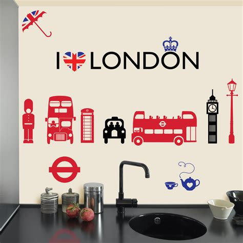 London Wall Art Stickers i love london wall stickers amp decals