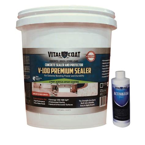 Acrylic Epoxy vital coat v 100 premium 5 gal water base acrylic epoxy