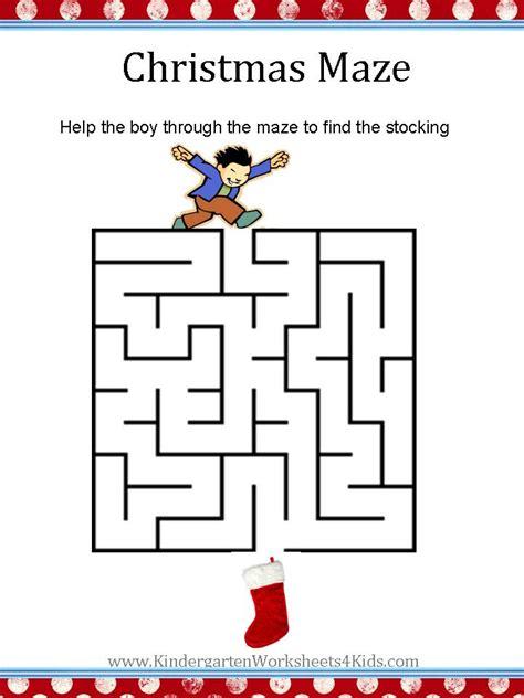 printable christmas maze worksheets christmas worksheets