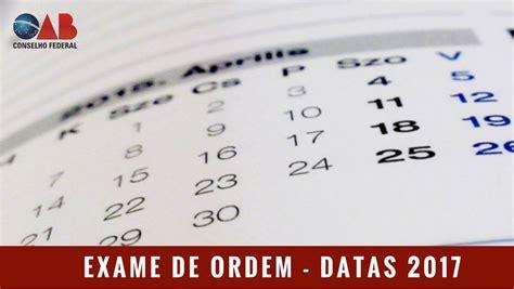 Calendario Oab 2017 Oab Divulga Calend 225 Do Exame De Ordem Para 2017 Na 231 227 O
