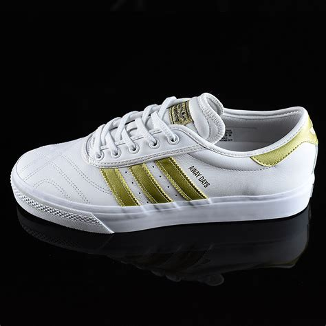 adi ease premiere away days shoes white gold in stock at the boardr