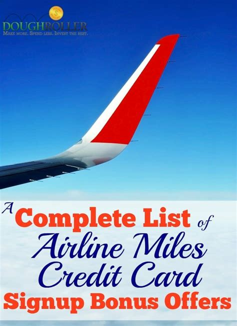 best airline credit card a complete list of credit card signup bonus offers