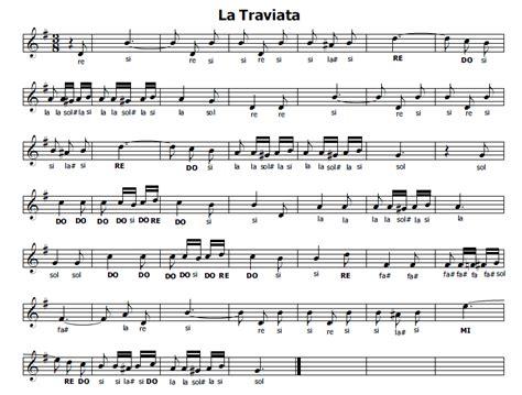 libiamo testo musica e spartiti gratis per flauto dolce la traviata