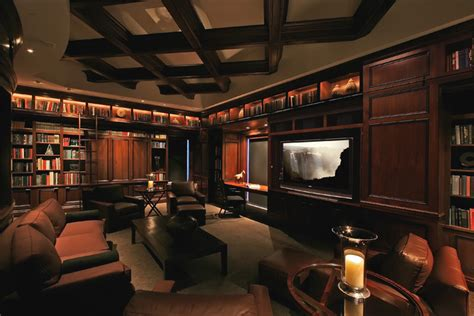 houzz media room high rise theater
