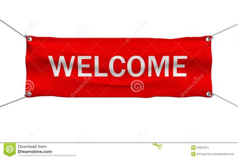 willkommen zuhause banner welcome message banner isolated stock images image 29927614