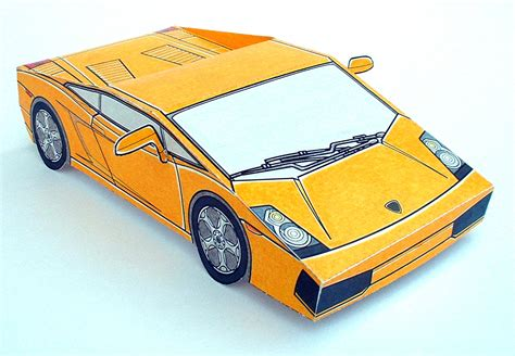 paper car template paper cars lamborghini gallardo lamborghini photo