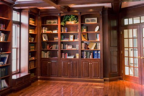 Library Fireplace by Library With Fireplace Custom Cabinetry By Ken Leech