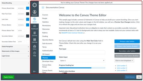 How Do I Create A Theme For An Account Using Th Canvas Lms Community Canvas Lms Page Templates